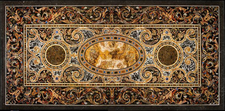 pietra dura   Pietra dura table top   Italian, Rome   The Metropolitan Museum of Art