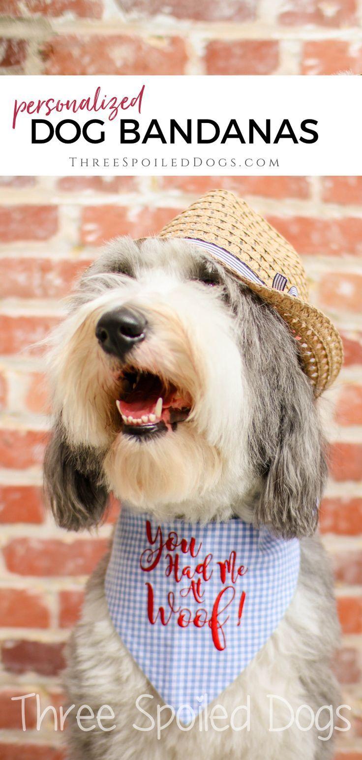 Personalized Dog Bandanas Custom Pet Bandanas Best Puppy Dog