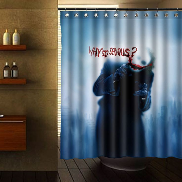 "THE JOKER THE DARK KNIGHT SHOWER CURTAIN 60"" X 72"" #Unbranded"
