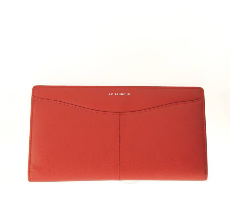 Chequebook Holder by LE TANNEUR Valentine Red