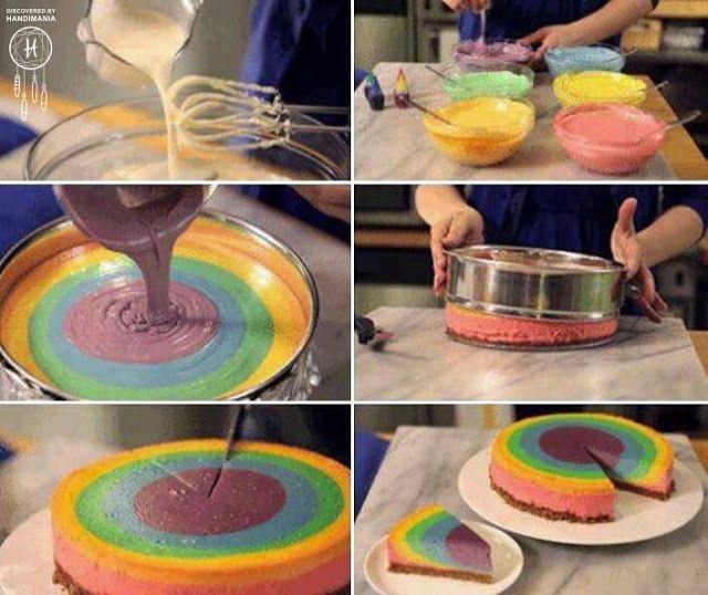DECORACION EN FIESTAS INFANTILES torta de colores