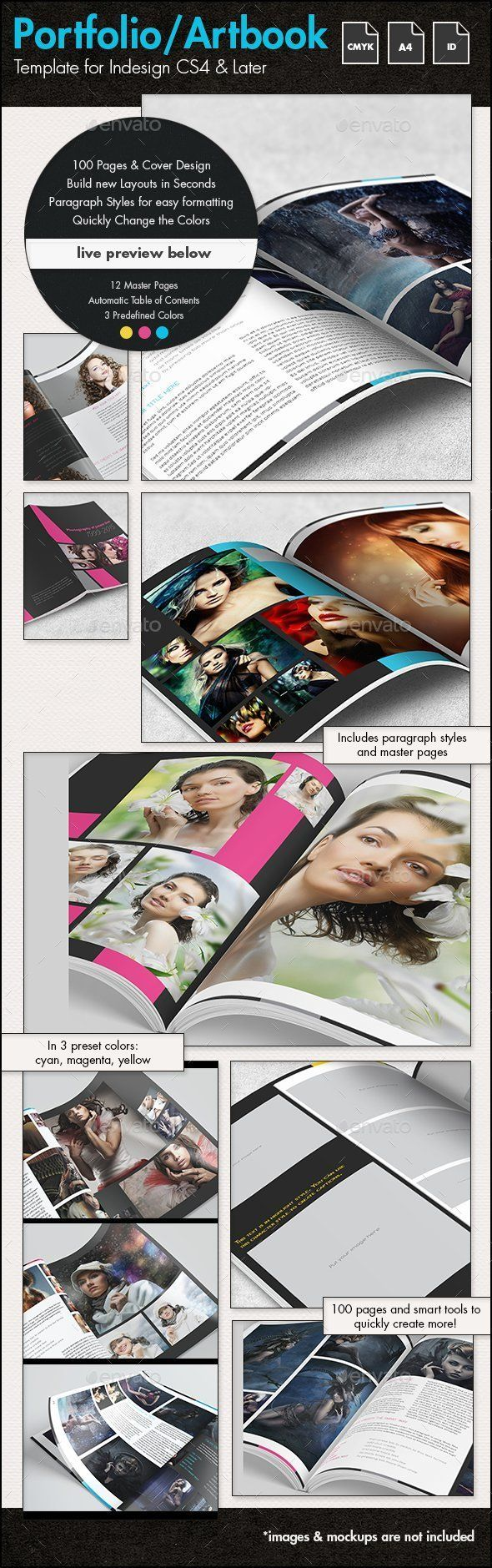 Photofolio & Artbook Template - A4 Portrait