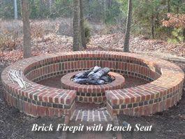 Brick circle firepit