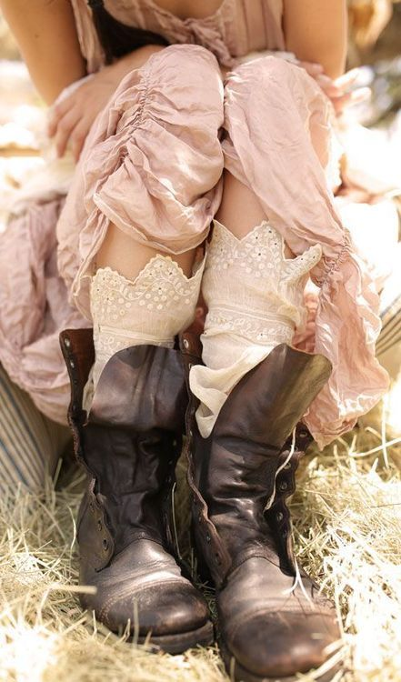 Love the boots and socks . . .