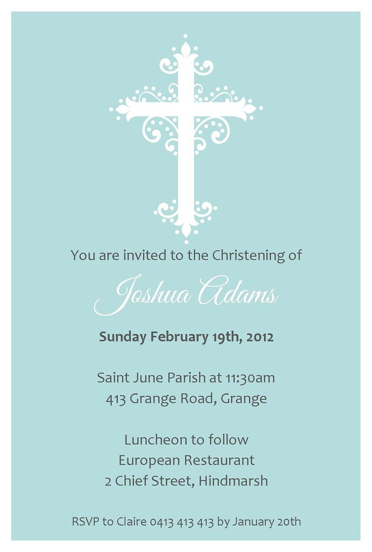 Blue Baby Blessing Invitation...Baptism Invitation...Christening Invitation...First Communion...Boy's Invitation....DIY printable invitation. $10.00, via Etsy.