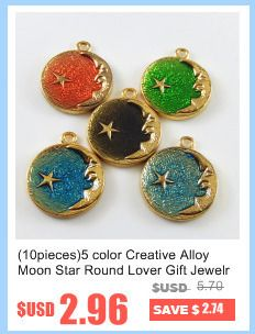 Aliexpress.com : Buy 10pcs/lot Alloy Gold Round Creative Punk Silver Star Necklace Pendant Jewelry Making Charms 23*20mm Handmade Crafts Gift 51461 from Reliable necklace gift box suppliers on Yao's Jewelry Accesories Store