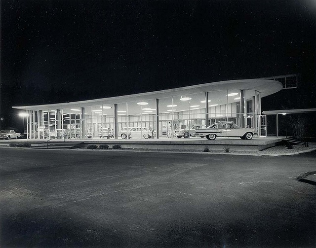 Lew Williams Chevrolet Dealership by National Register, via Flickr