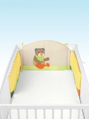 Bear Cotbed Bumper | Nursery Furniture | Baby Accessories Ireland | Cribs.ie