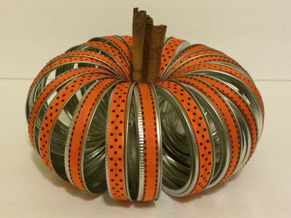 25 Unique Canning Lid Pumpkin Ideas On Pinterest