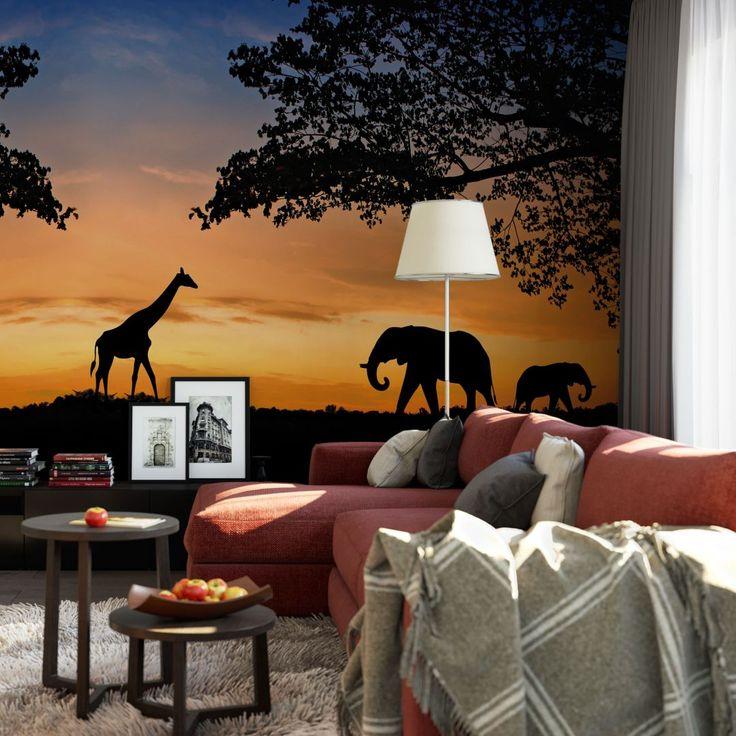 Fotobehang Afrikaanse Zonsondergang