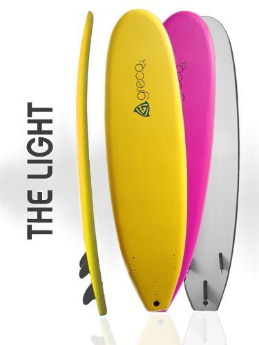 7' Performance Soft Top Foamboard Funboard Longboard Foam Surfboard by Greco Surf (Pink) >>> To view further for this item, visit the image link.