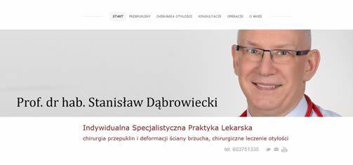 leczenie prowadzi prof. dr hab. med. Stanisław Dąbrowiecki