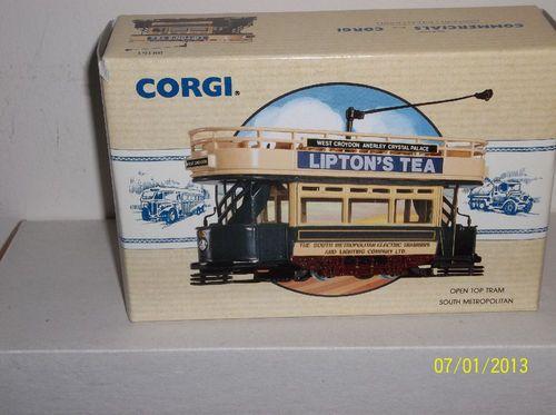 "Corgi ""South Metropolitan Tram Ways"" Open Top Double Decker Tram 98151 | eBay"