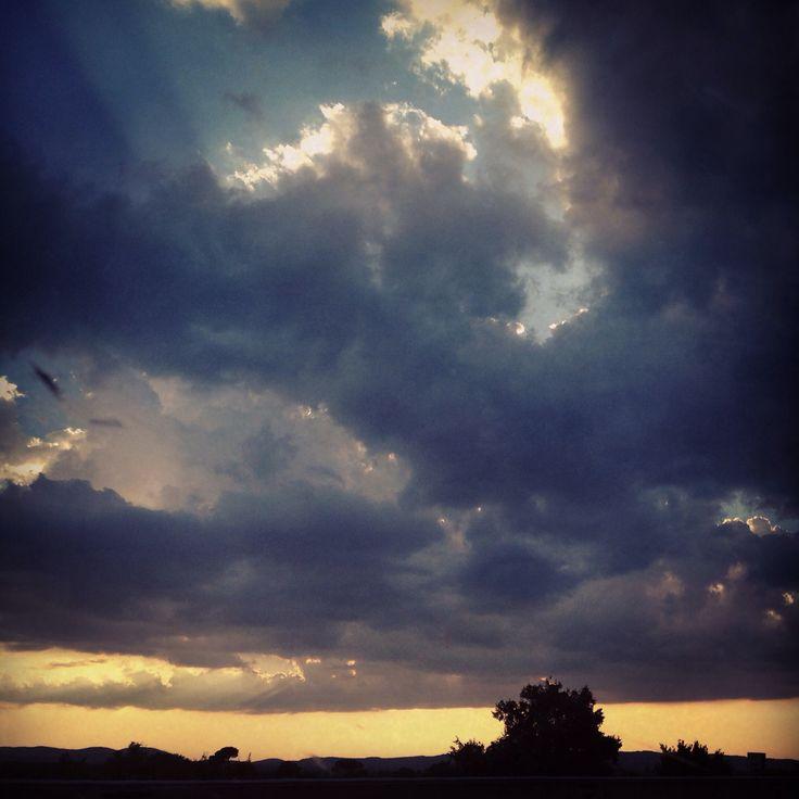 Cielo meraviglioso tra Umbria e Toscana
