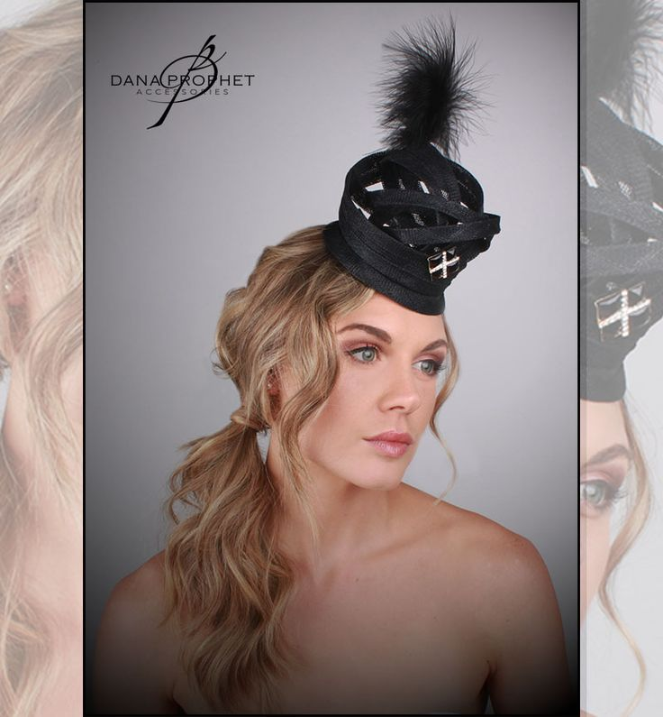Black Crown Sinamay Fascinator. Look regal at any event with this black fascinator with rhinestone clip and feather. https://danaprophetaccessories.com/fascinators/black-crown-sinamay-fascinator/ #hat #hats #fascinators #races #durbanjuly #horse #horserace #southafrica #fashion #style #kentuckyderby #trending #royal #sinamay #celebrations #weddings #wedding #bride #bridal  #bridesmaids #derbyhat #feather #melbournecup #royalascot #derbyday #Oaksday #accessories #danaprophetaccessories #Black…