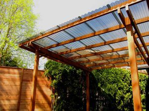 Corrugated Plastic Roof For Porch And Deck Free Standing