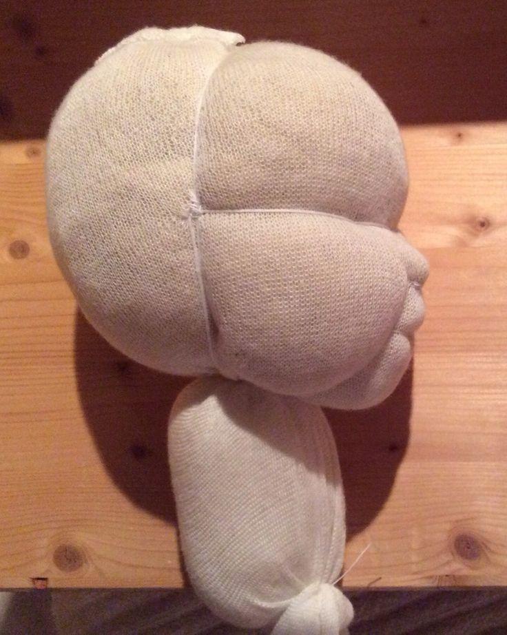 Nein, kein echtes, sondern eine Babypuppe. Die hier vorgestellte wird eine Arbeitspuppe, soll also 52 cm groß werden und 3,5 kg schwer. Ich habe mit dem Kopf begonnen und möchte Euch heute einmal z...