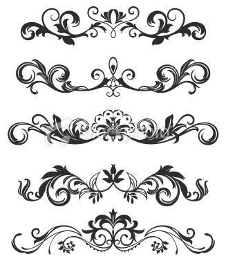 scroll design Royalty Free Stock Vector Art Illustration