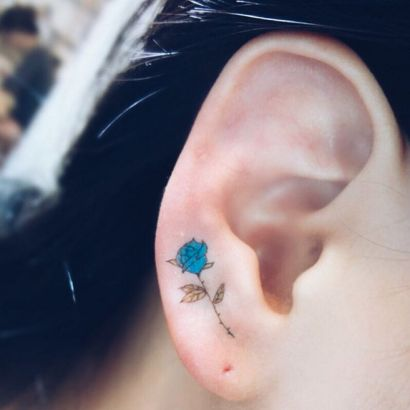 If you're looking for fresh tattoo ideas, you could consider these delicate yet prominent ear tattoos that are whispering for attention.