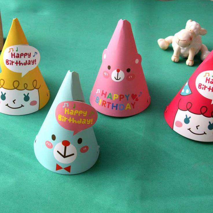 Ну вечеринку празднование корейский мило ну вечеринку шляпы день рождения праздничный ну вечеринку фотографируем детали оптовая продажа на день рождения ну вечеринку украшения детей # купить на AliExpress