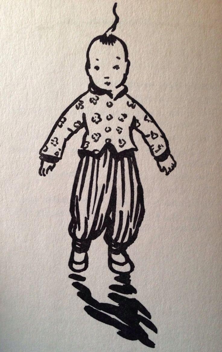 Illustratie uit 'Kleine Sjang' van Eleanor Frances Lattimore uit 1950