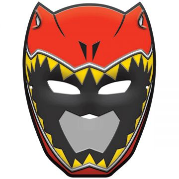 It's time to get charged up! The birthday boy can take the lead with our Power Rangers Dino Charge Vacuform Mask. This cool plastic mask looks just like the Red Rangers, T-Rex helmet and has eye-and m