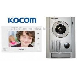 """Kocom Colour hands Free Video 7"""" Wide Screen KCV-D374 with large door station…"""