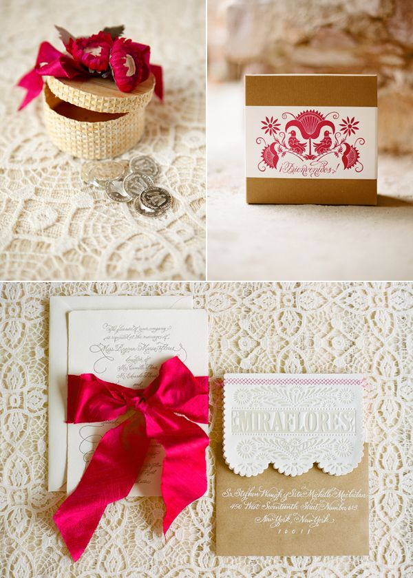 Absolutely gorgeous wedding invitations which are Papel Picado inspired and printed by papelpress.com