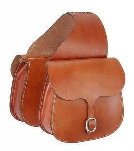 Tough-1 Leather Saddle Bag. Large and roomy saddle bag made of premium quality, skirting leather. Measures 12 x 12 with 4 1/2 gusset. Buckle closures.