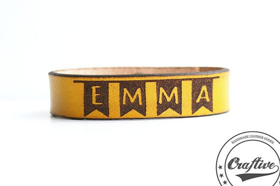1 year old girl gift Name Bracelet Toddler by CraftiveLeather