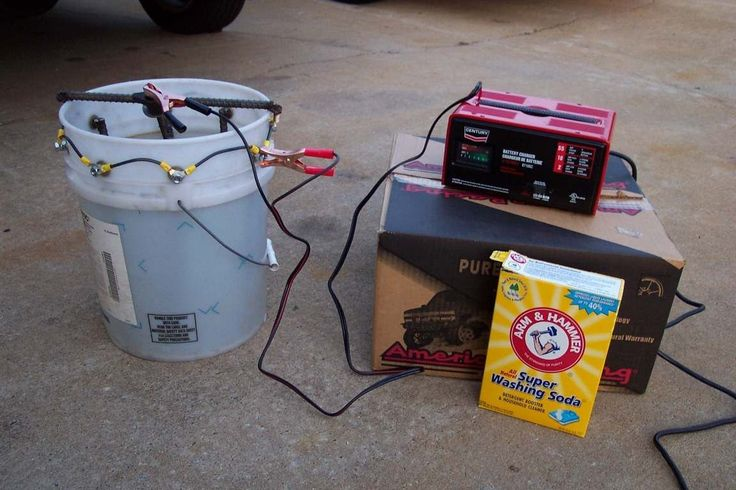 Rust Removal using Electrolysis