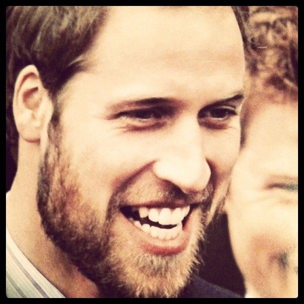 Prince William. IN A BEARD. Somehow much more attractive than clean shaven. But then, I like facial hair.