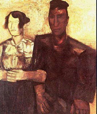 Constant Permeke, Le couple (Antwerpen, 1886 — Oostende 1952) verbleef in 1906 te Gent, voor militaire dienstplicht. Schreef zich in aan de academie waar hij vriendschap te sloot met belangrijke figuren als Frits Van den Berghe, Gustave De Smet, Henri Puvrez, Léon De Smet.