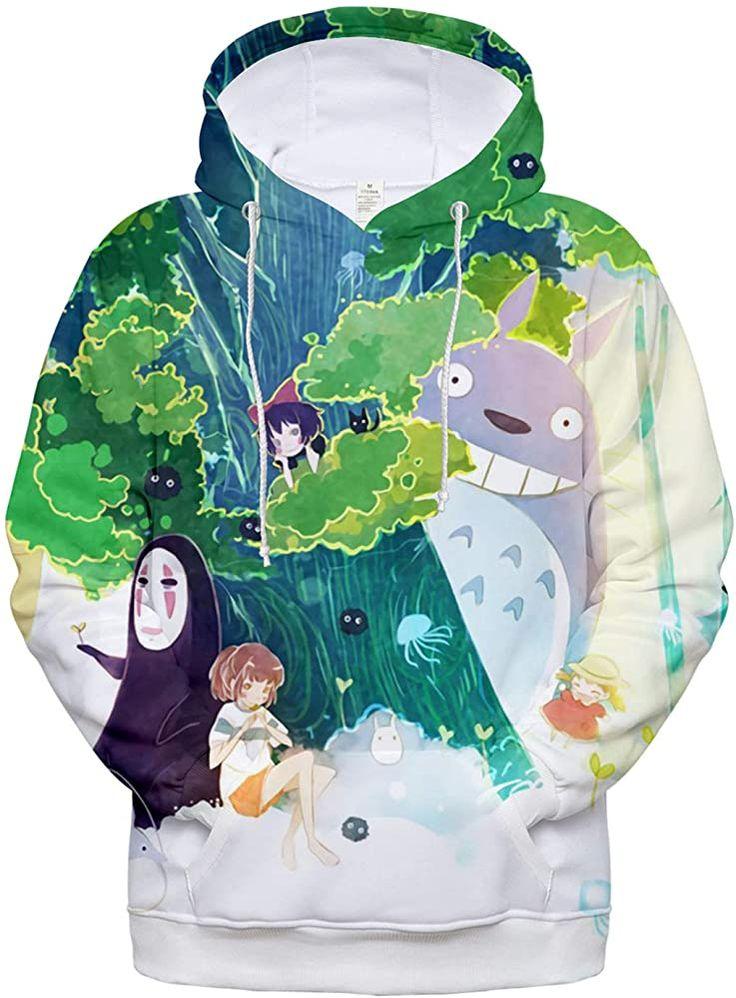 Chairay anime hoodie realistic 3d totoro