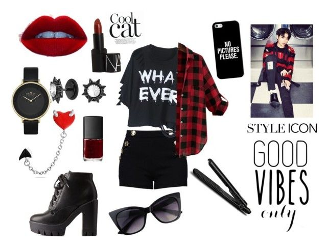 Jungkook | bts | kpop | rebel | swag | polyvore | outfit | edgy | punk | sexy |cool