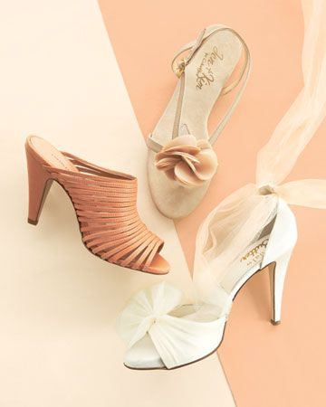 If Youll Be Donning Ivory Shoes Put Bridesmaids In Shades Of Peach Cream ShoesIvory ShoesWedding Color