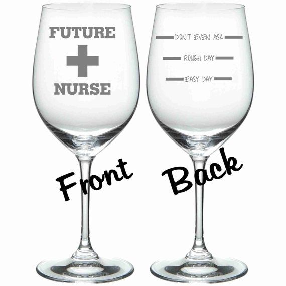 Etched Future Nurse Glass Set of 2 FUNNY Chose by WulfCreekDesigns, $29.95