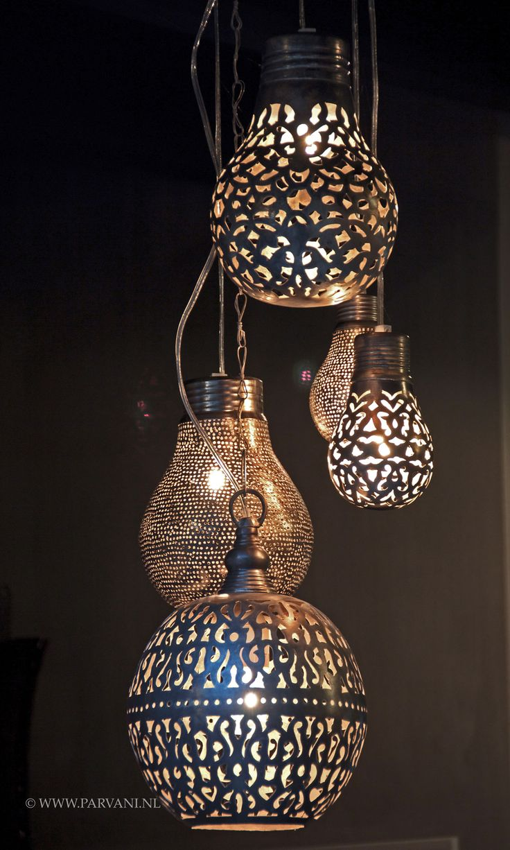 Parvani | Zenza-lampen-zilver-bollen-egypte