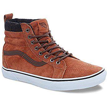 eb12ba2445d Vans Unisex Sk8-Hi MTE Glazed Ginger Plaid Skate Shoe 8 Men US   9.5 Women  US