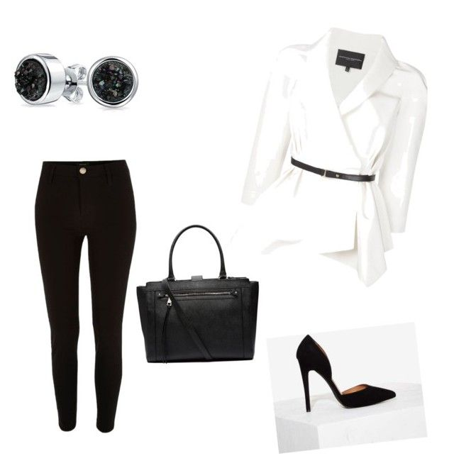 """Simple black and white"" by borbalastyle on Polyvore featuring Nasty Gal, River Island, Bling Jewelry, Witchery and Carolina Herrera"