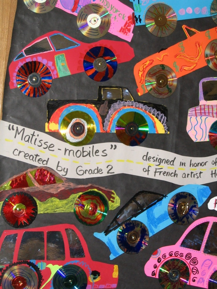 Recycled art cars - use those old CD's!