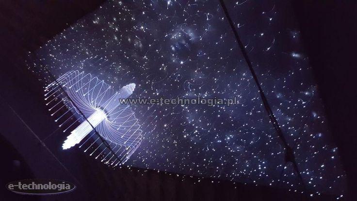 sufity dekoracyjne montaż - sufity dekoracyjne z lampami - sufity dekoracyjne gwieździste niebo