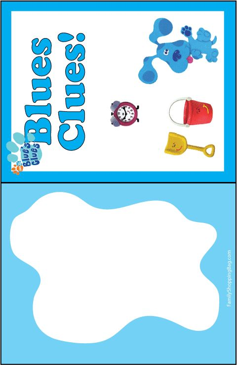 Blues Clues Invitations  .. also links to a lot of Blues Clues printables **DONE**