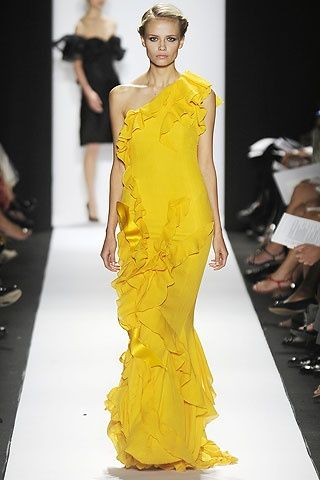 Love this color and the soft, soft ruffles...Carolina Herrera