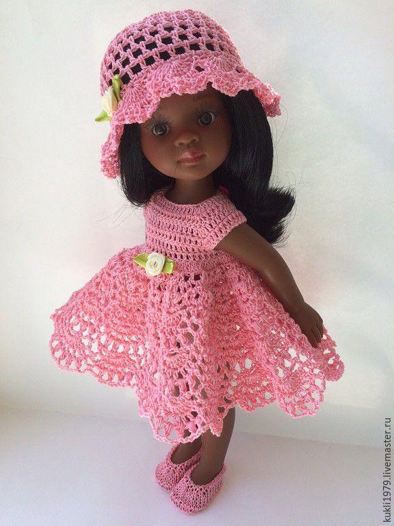 Купить или заказать Наряд для куклы в интернет-магазине на Ярмарке Мастеров. очень красивое ажурное платье , связанное крючком. из тонкой ниточки. цве тможно выбрать любой. коралловый, бирюзовый, розовый, шоколад. К платью идет в комплекте маленькие туфельки и на выбор ободок или красивая Шляпа или панамка…