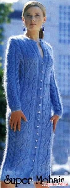 """Теплые пальто. 8 моделей.Вязание,спицы.крючок. - 27 Октября 2014 - Рукоделие своими руками - """"Магия Творчества""""-информационный портал."""