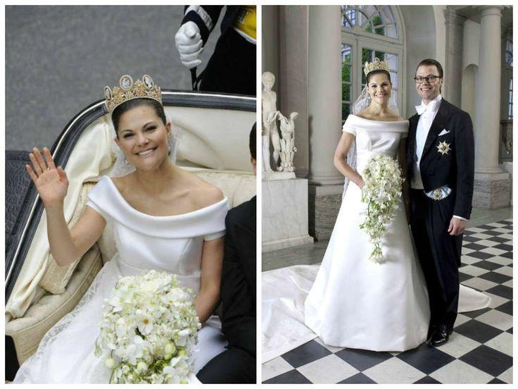 19/06/2010 Vittoria di Svezia e Daniel Westling. Abito disegnato dalla maison Valentino.