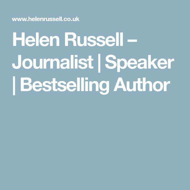 Helen Russell – Journalist | Speaker | Bestselling Author