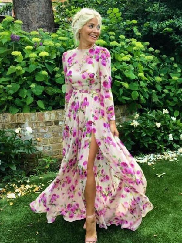48b6a846bef Pretty Bohemia Long-sleeve Split-Side Floral Maxi Dress in 2019 ...