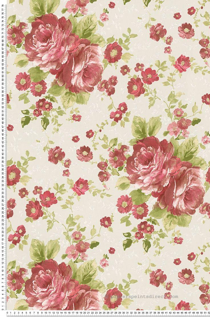 Pivoines rouges - Papier peint Romantica 3 d'AS Création